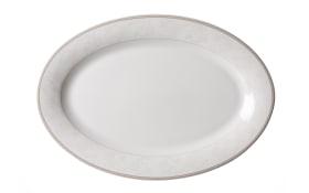 Servierplatte Isabella in weiß/oval, 32 cm