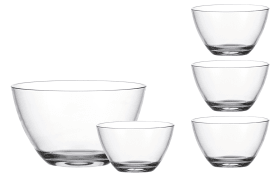 Schalen-Set Active in transparent, 5-teilig