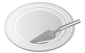 Tortenplatte + Heber Limito, 2-teilig
