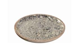 Holzteller Ornare in champagner Mosaik, 28 cm