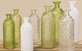 Vase Jessy in grün, weiß oder klar, 20 cm