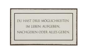 Schild 40 x 20 cm