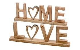 Deko Aufsteller Home oder Love aus Mangoholz, 50 cm