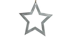 Stern-Hänger Agen in grau, 24 cm