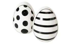 Ei Punty in schwarz/weiß, 7 cm