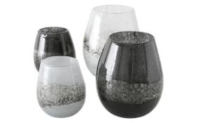 Windlicht Griselda in grau oder schwarz, 23 cm