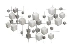Wand-Objekt Eos in grau, 92 cm