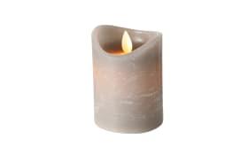 LED-Kerze Bino in grau, 10 cm