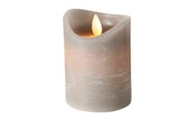 LED-Kerze Bino in grau, 12 cm