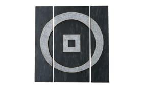 Wandobjekt Medhi 3-teilig in schwarz, 98 cm