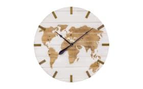 Wanduhr Global in weiß, 74 cm