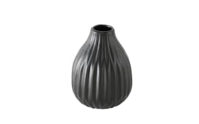 Vase Esko in schwarz, 12 cm