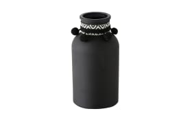 Vase Jamilo in schwarz, 20 cm