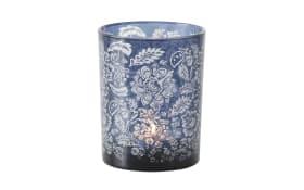 Windlicht Balina in blau, 12 cm
