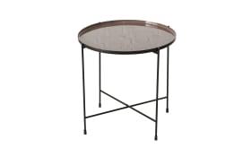 Tisch Clinton in schwarz, 45 cm