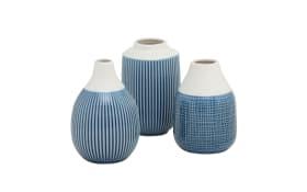 Vase Bluyo in blau, 15 cm