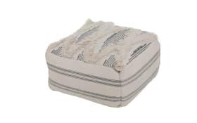 Sitzkissen Kamea in weiß, 40 x 40 cm