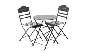 Boltze Tisch-Stuhl-Set in grau