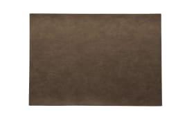Tischset vegan Leder nougat, 46x33cm