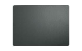 Tischset grau plum aus Kunstleder