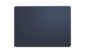 Tischset blau plum aus Kunstleder