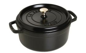 Schmortopf Cocotte in schwarz rund, 24 cm