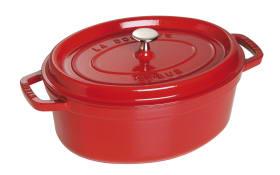 Schmortopf Cocotte in rot oval, 29 cm