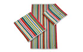 Handtuch Multicolor-Streifen in rot, 50 x 100 cm