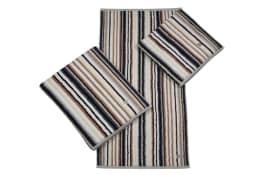 Handtuch Multicolor-Streifen in anthrazit, 50 x 100 cm