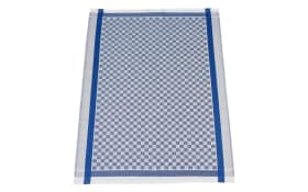 Gruben-Geschirrtuch in blau/grau kariert