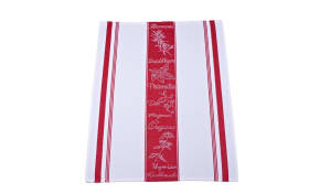 Geschirrtuch in rot/weiß, 50 x 70 cm