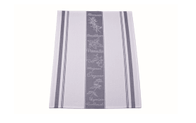 Geschirrtuch in silber/weiß, 50 x 70 cm