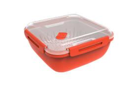 Dampfgarer groß Memory Microwave in Papaya rot