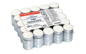 Teelichte in weiß, 100er Flatpack