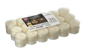 Teelichter-Set in weiß, 36 Stück