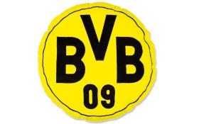 Borussia Dortmund Kissen BVB in gelb, rund, 42 cm