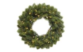 LED-Kranz in grün, 40 cm