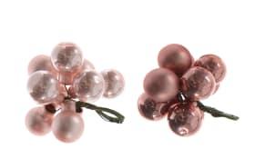 Glaskugel Hänger in rosa, 2 cm