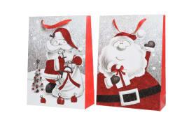Papier-Geschenktasche in rot, 18 x 24 cm