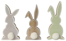 Osterhase Bunny als Silhouette