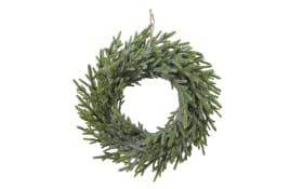 Kranz Jutehänger in grün, 30 cm