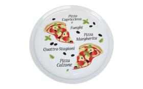 Pizzateller Margherita in weiß mit Motiv