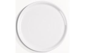 Pizzateller in weiß