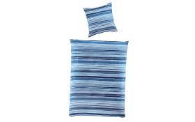 Bettwäsche Mako-Satin in blau, 135 x 200 cm
