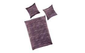 Bettwäsche Mako-Satin in lavender, 135 x 200 cm