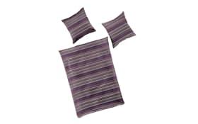 Bettwäsche Mako-Satin in lavender, 135 x 200 cm.