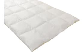 Dauneneinziehdecke in weiß, 135 x 200 cm