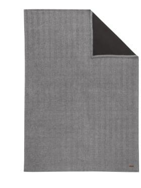Jacquard-Decke in anthrazit 150 x 200 cm