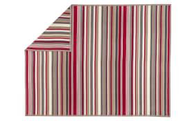 Wohn- und Schlafdecke Arona in natur/rot, 150 x 200 cm
