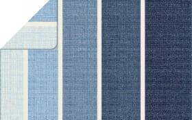 Wohn-u.Schlafdecke in blau/weiß, 150 x 200 cm